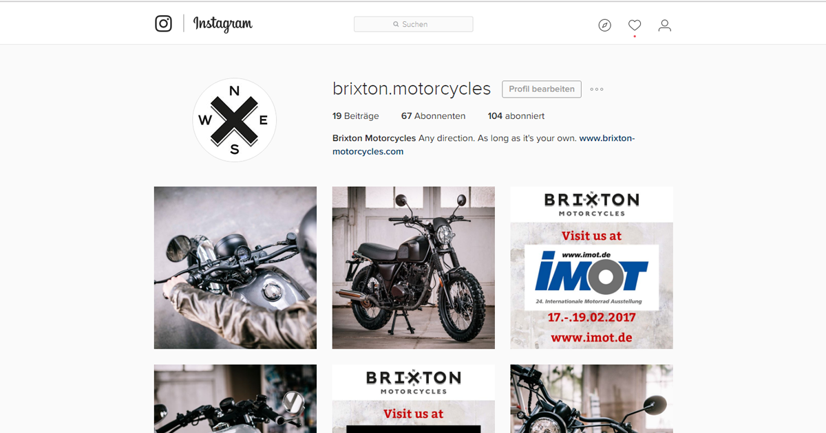 BRIXTON at Instagram